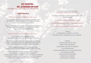 Programa de actividades Almendro en Flor 2014 Garrovillas de Alconétar