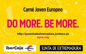 Logotipo del Carné Joven Europeo en Extremadura