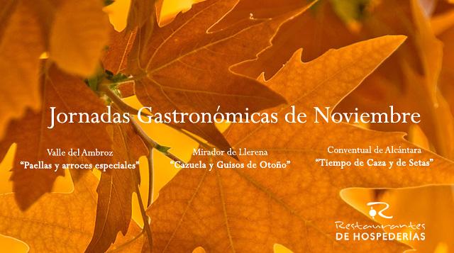 Jornadas Gastronómicas - Menús Otoño Restaurantes Extremadura