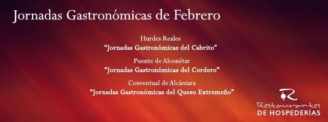Jornadas gastronómicas Hospederías de Extremadura - Cabrito, Cordero, Quesos Extremeños