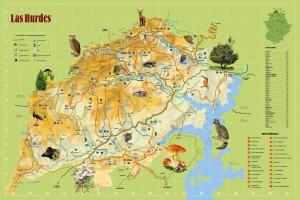 Mapa de Las Hurdes (pulsa para abrir en máxima calidad)